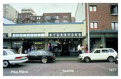 Primer Starbucks en Seattle.