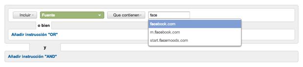 Analiza la influencia de las redes sociales en tu blog. Segmentos avanzados de Google Analytics.