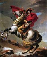 """Cómo las grandes superficies """"mataron"""" al pequeño comercio. Imagen: Napoleon crosses the St. Bernard, by Jacques-Louis David (Wien), 1800"""
